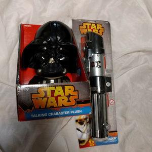STAR WARS Darth Vader Talking Plush & Light Saber